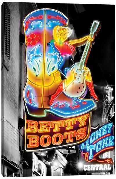 Nashville Broadway Neon Honky Tonk Canvas Art Print