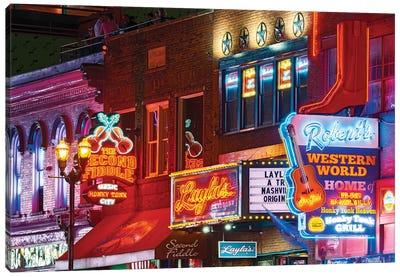 Nashville Neon Nights Canvas Art Print