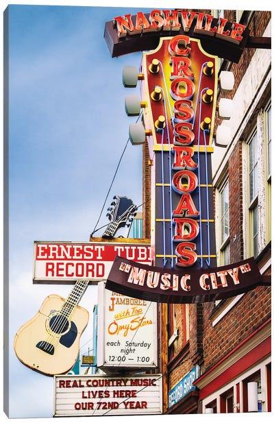 Nashville Music City Canvas Art Print