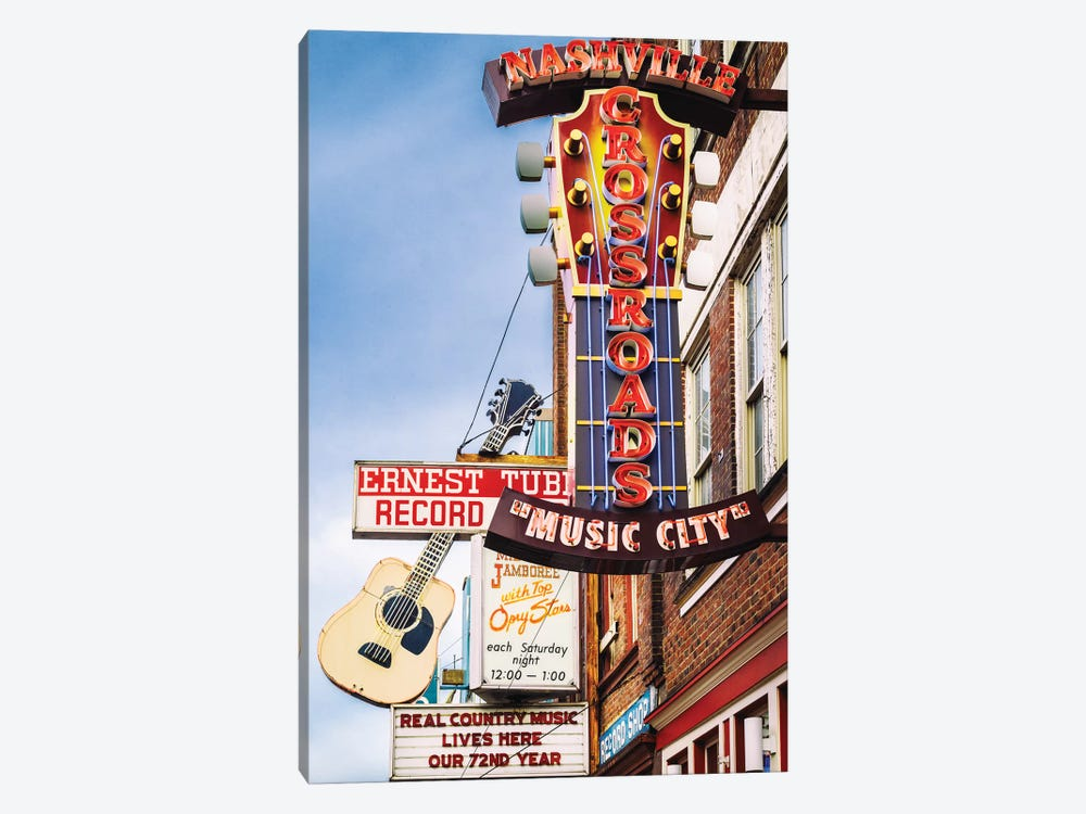 Nashville Music City by Susanne Kremer 1-piece Canvas Artwork