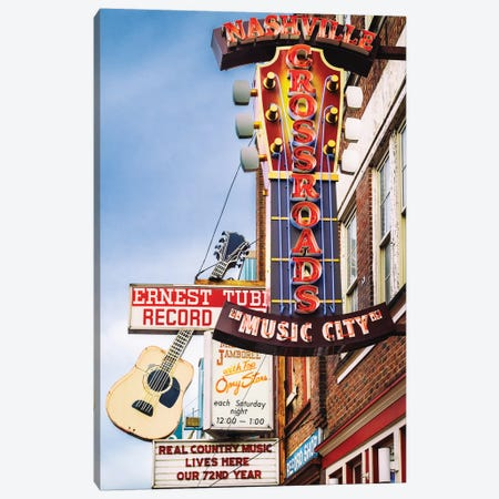 Nashville Music City Canvas Print #SKR365} by Susanne Kremer Canvas Print
