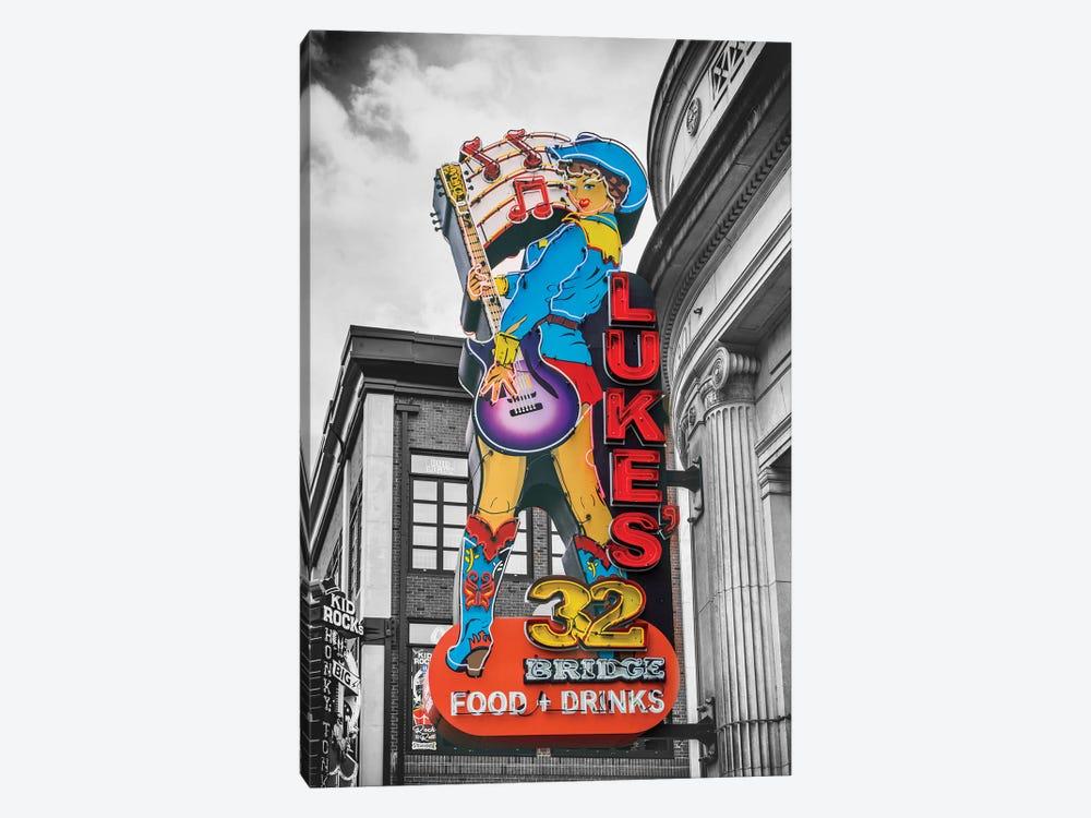 Nashville Lukes Neon Sign by Susanne Kremer 1-piece Art Print
