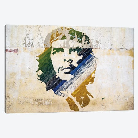 Che Wall Painting Old Havana  Canvas Print #SKR36} by Susanne Kremer Canvas Wall Art