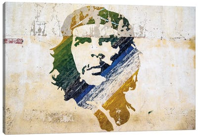 Che Wall Painting Old Havana  Canvas Art Print