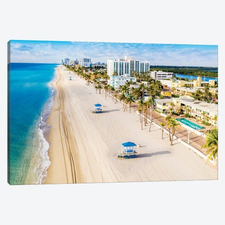 Beautiful  Beach Morning Canvas Print #SKR371} by Susanne Kremer Canvas Print