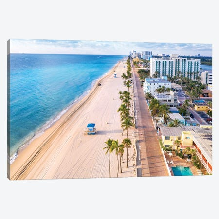 Hollywood Beach,  Florida I Canvas Print #SKR372} by Susanne Kremer Canvas Art Print