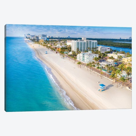 Hollywood Beach, Florida II Canvas Print #SKR373} by Susanne Kremer Canvas Art Print