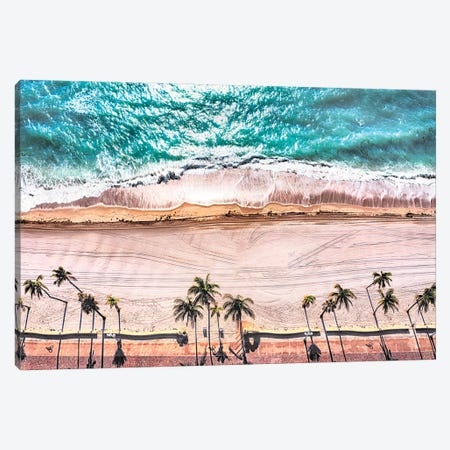 Stormy Beach Day Canvas Print #SKR374} by Susanne Kremer Canvas Artwork