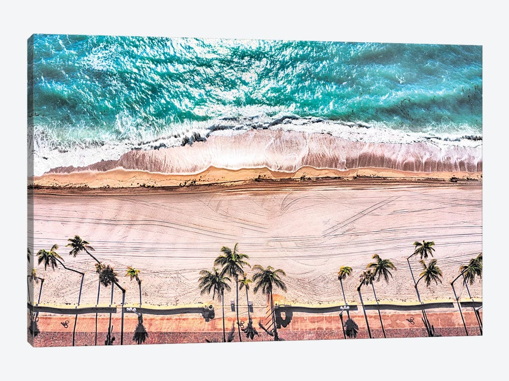 Stormy Beach Day by Susanne Kremer 1-piece Canvas Art