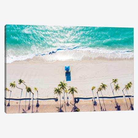 Day Dreaming, Aerial View of a Florida Seashore Canvas Print #SKR379} by Susanne Kremer Art Print