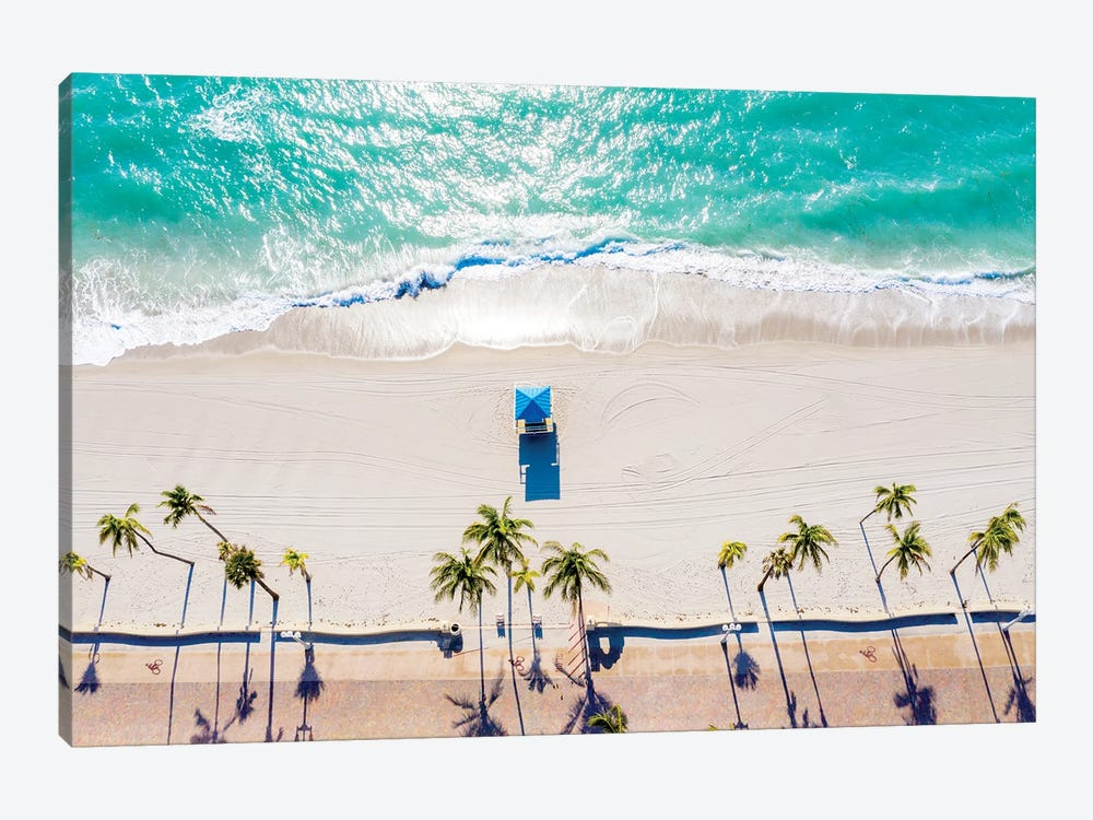 Day Dreaming, Aerial View of a Florida Seashore by Susanne Kremer 1-piece Canvas Art Print