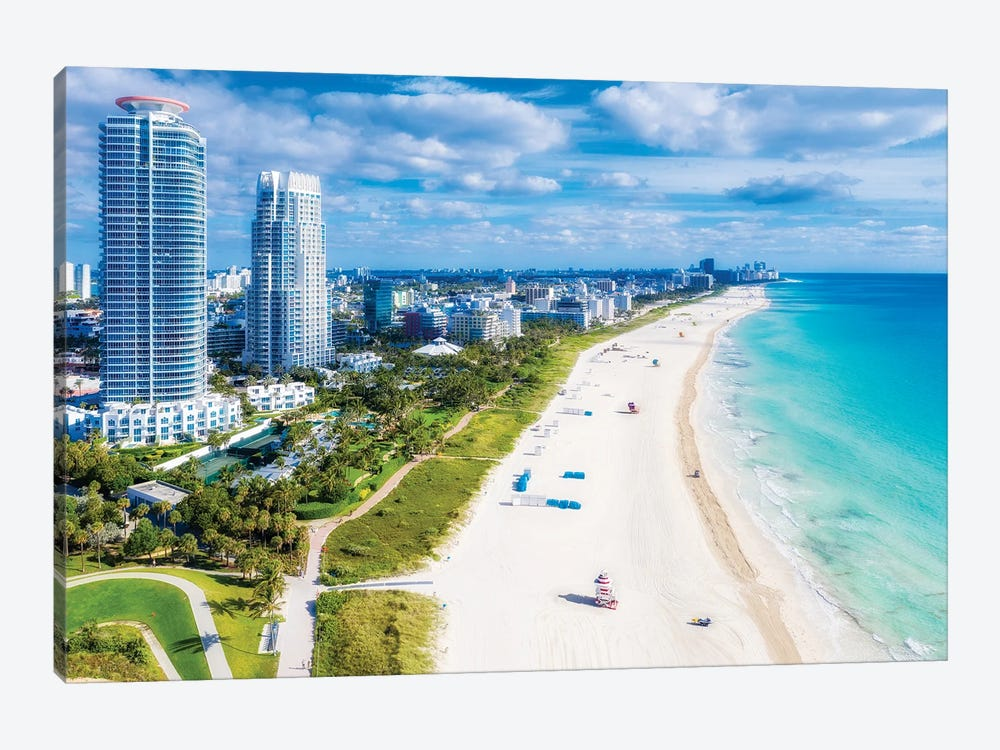 Miami Beach Florida by Susanne Kremer 1-piece Canvas Print