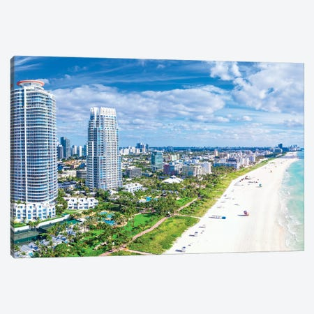 Miami Beach  Pano Florida Canvas Print #SKR381} by Susanne Kremer Canvas Artwork