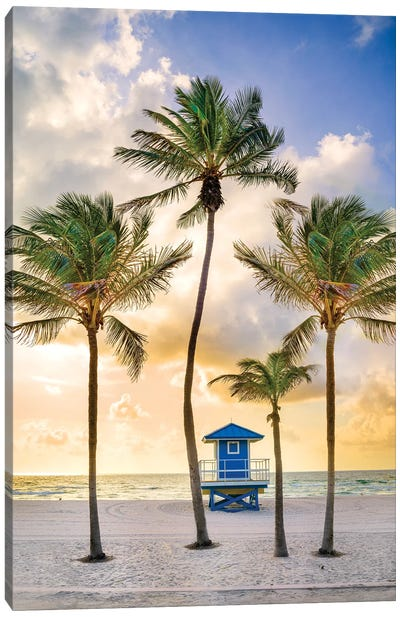 Florida Beach Sunrise Canvas Art Print