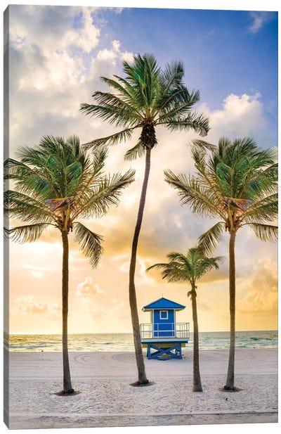 Florida Beach Sunrise Canvas Art Print