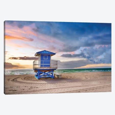 Quiet Beach Sunrise 3-Piece Canvas #SKR384} by Susanne Kremer Canvas Art Print