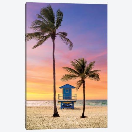 Summer Sunrise At The Beach Canvas Print #SKR385} by Susanne Kremer Canvas Art Print
