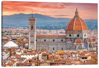 Il Duomo Florence Sunset,Italy Canvas Art Print