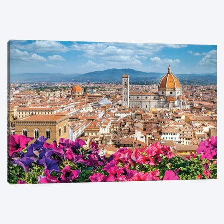 Spring Morning Florence,Italy Canvas Print #SKR393} by Susanne Kremer Canvas Print