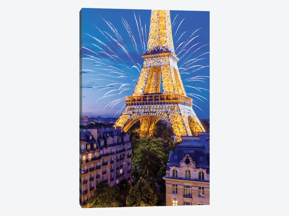 Eiffel Tower Sparkles by Susanne Kremer 1-piece Canvas Print