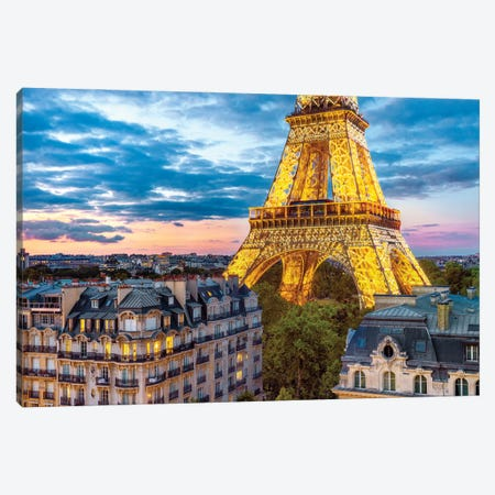 Best VIew In Town Eiffel Tower Paris Canvas Print #SKR403} by Susanne Kremer Canvas Print
