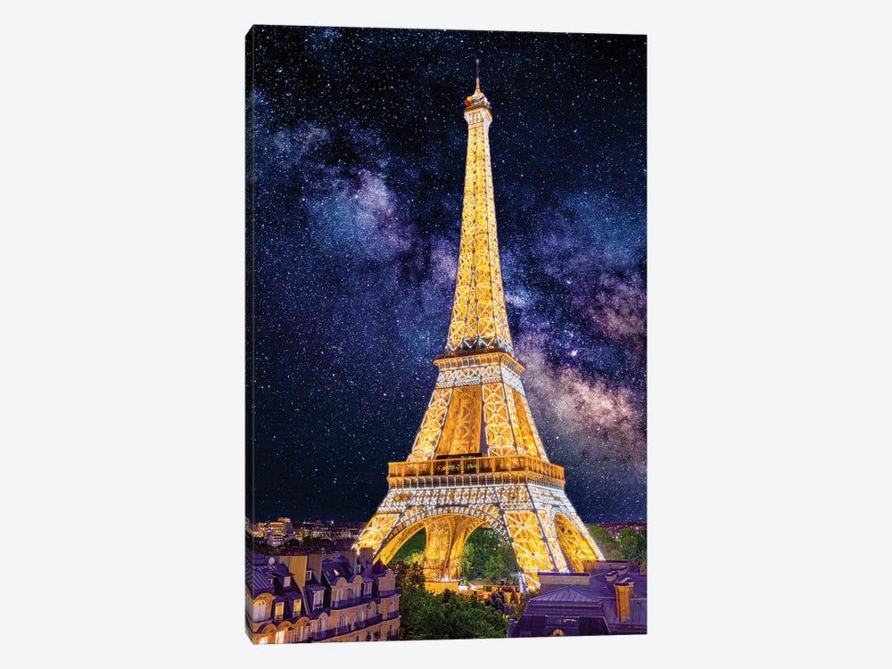 Under The Stars, Eiffel Tower Paris by Susanne Kremer 1-piece Canvas Art