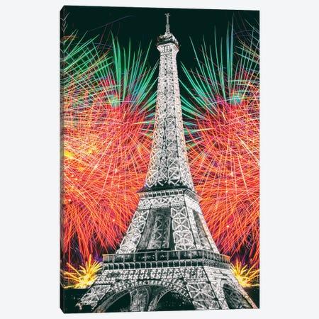 Eiffel Tower Art,Paris Canvas Print #SKR406} by Susanne Kremer Canvas Wall Art