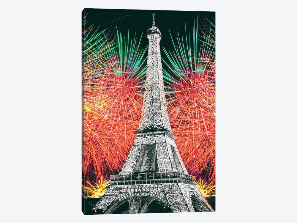 Eiffel Tower Art,Paris by Susanne Kremer 1-piece Canvas Wall Art