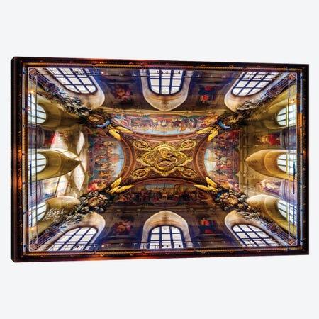 Look Above, Historic Ceiling Paris France Canvas Print #SKR408} by Susanne Kremer Art Print