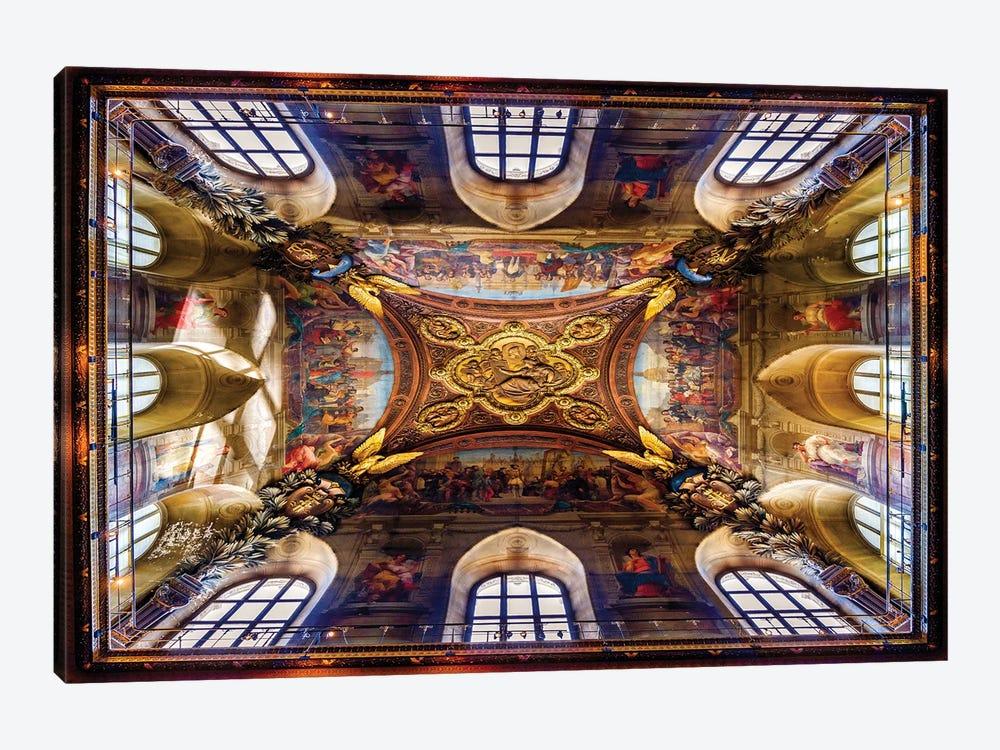 Look Above, Historic Ceiling Paris France by Susanne Kremer 1-piece Canvas Wall Art