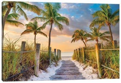 Tropical Beach Sunrise Key West Florida Canvas Art Print