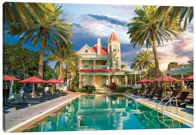 Key West historic Mansion, Florida Canvas Art Print