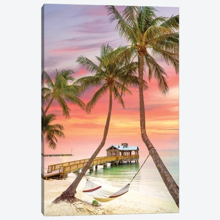 Relaxing Tropical Sunrise,  Key West Florida Canvas Print #SKR419} by Susanne Kremer Canvas Artwork