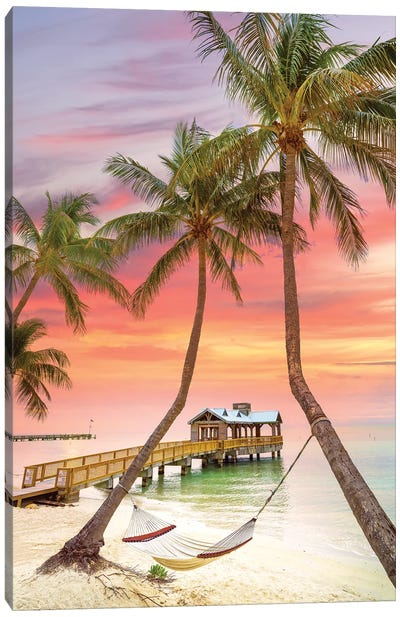 Relaxing Tropical Sunrise,  Key West Florida Canvas Art Print