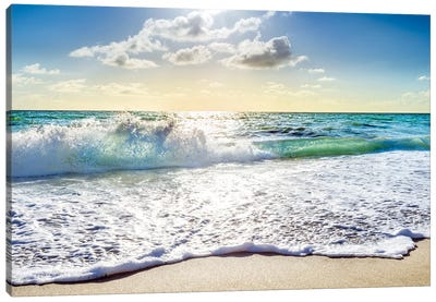 Rolling Beach Waves, South Florida Canvas Art Print