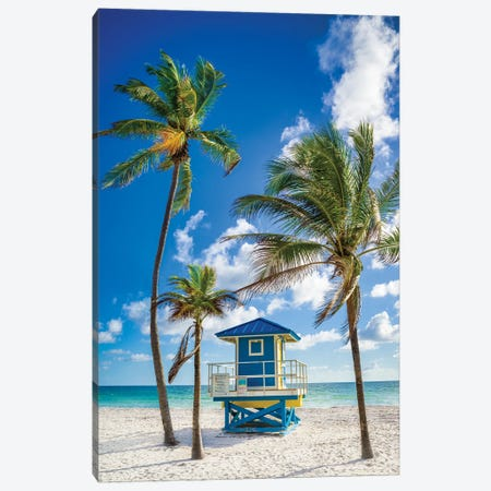 Happy Hour At The Beach, South Florida Canvas Print #SKR424} by Susanne Kremer Canvas Art