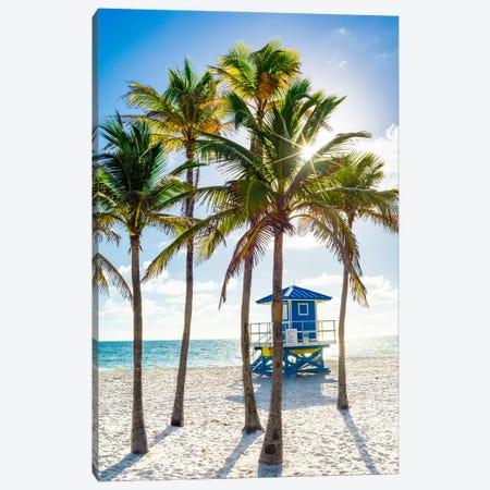 Sunny Beach Days, South Florida Canvas Print #SKR425} by Susanne Kremer Canvas Wall Art