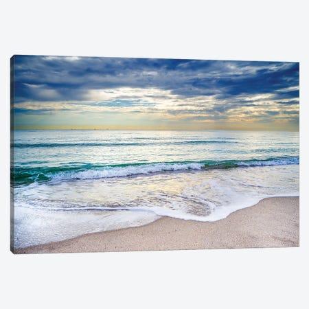 Gentle Waves At The Beach Canvas Print #SKR428} by Susanne Kremer Canvas Art Print