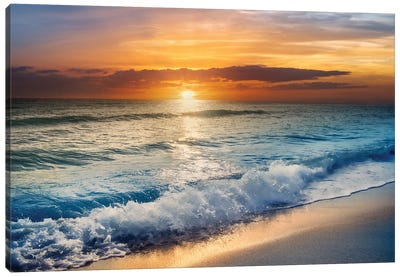 Beach Sunrise In South Florida Canvas Art Print