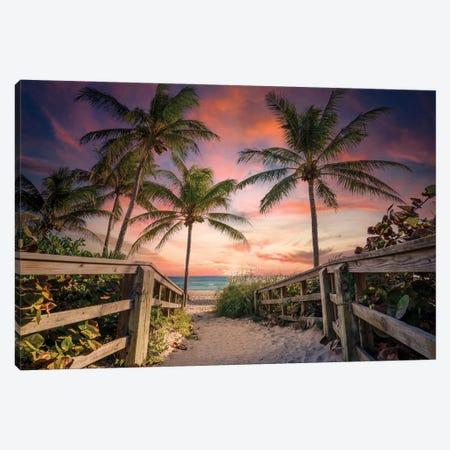 Beach Paradise South Florida Canvas Print #SKR439} by Susanne Kremer Canvas Artwork