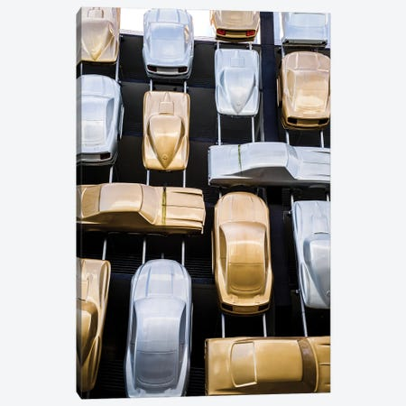 Cars At The Museum Wall Canvas Print #SKR455} by Susanne Kremer Art Print