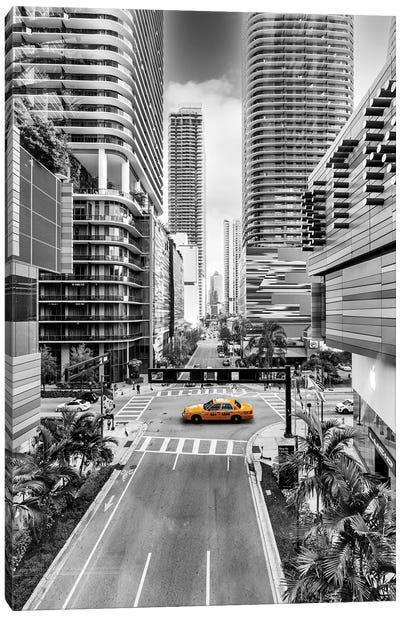 Sunshine Cab, Miami Downtown Canvas Art Print
