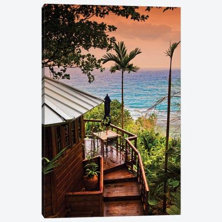 Coastal View from Hillside, Geejam Hotel  Canvas Print #SKR47} by Susanne Kremer Canvas Print