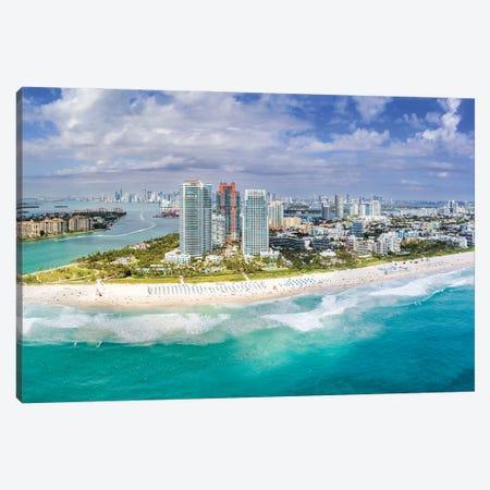 Miami Beach Aerial Panorama Canvas Print #SKR487} by Susanne Kremer Canvas Art