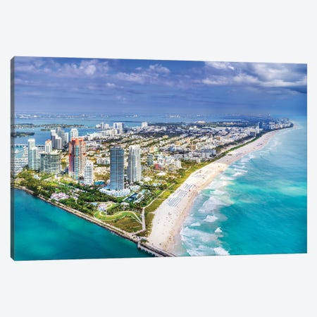 Miami South Beach From The Helicopter Canvas Print #SKR488} by Susanne Kremer Canvas Print
