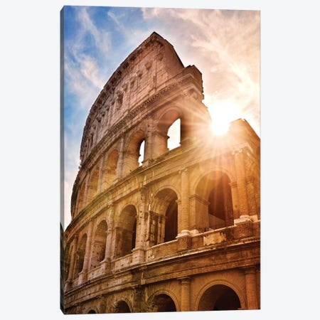 Colosseum  Canvas Print #SKR48} by Susanne Kremer Canvas Wall Art