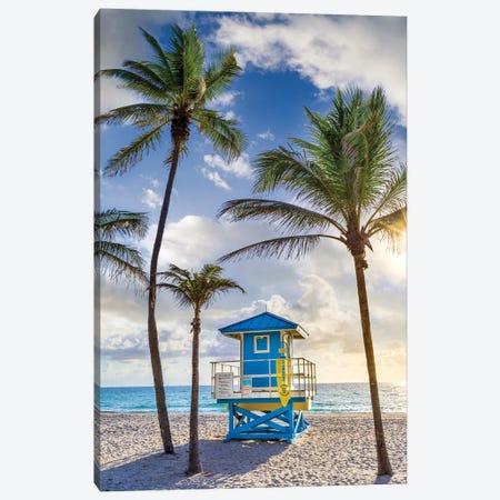 South Florida Sunny Beach Day Canvas Print #SKR494} by Susanne Kremer Art Print
