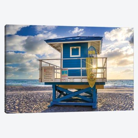 South Florida Beach Morning Star Canvas Print #SKR495} by Susanne Kremer Art Print