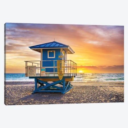 Florida Sunrise Canvas Print #SKR496} by Susanne Kremer Art Print