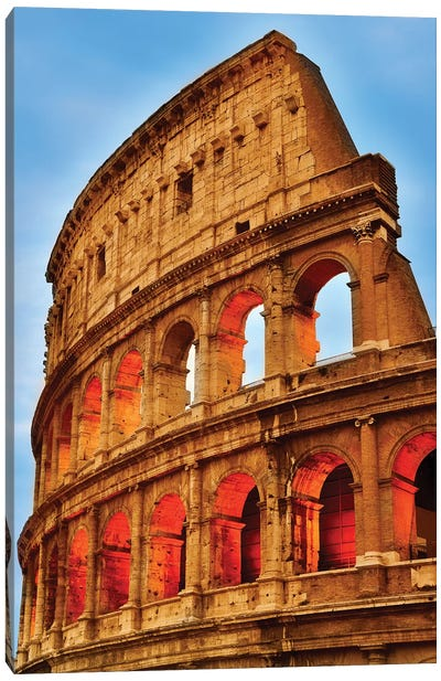 Colosseum At Night I Canvas Art Print